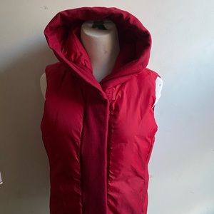 Eileen Fisher Hood Down Vest Weather Resists small